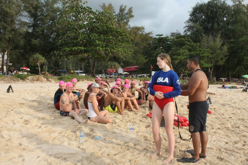 More than 70 men and women are learning essential life-saving skills at the ISLA free lifeguard training being held at Surin and Bang Tao beaches. Photo: Premkamon Ketsara