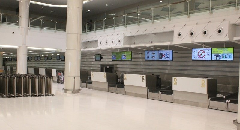 Inside the newly refurbished Domestic Terminal at Phuket International Airport. Photo: Premkamon Ketsara