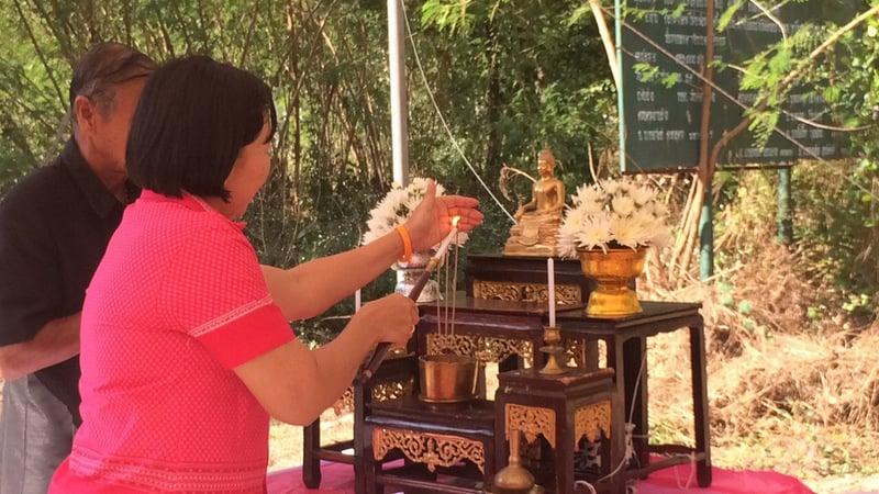 Services today included a multi-faith ceremony. Photo: Eakkapop Thongtub