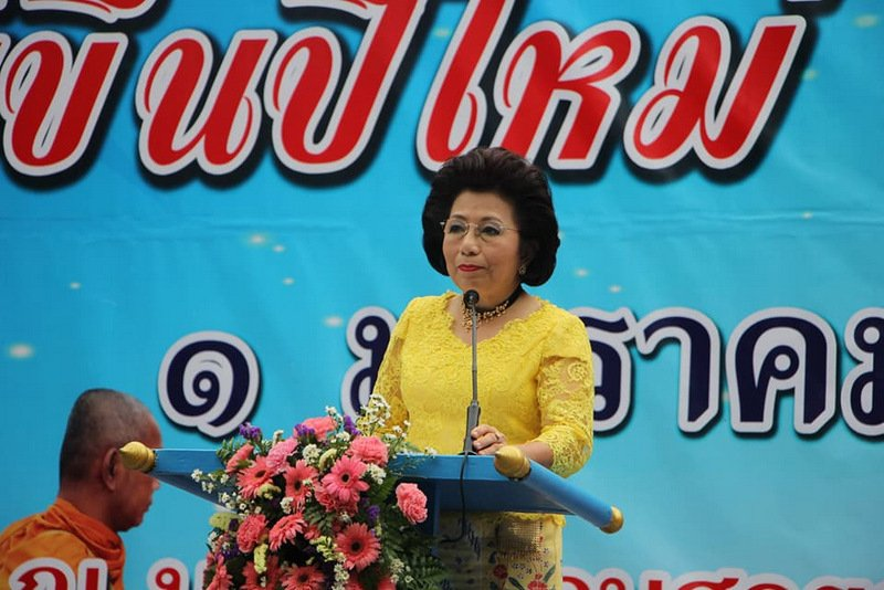 Phuket City Mayor Somjai Suwansupana also shared her New Year blessings with the people. Photo: PR Dept