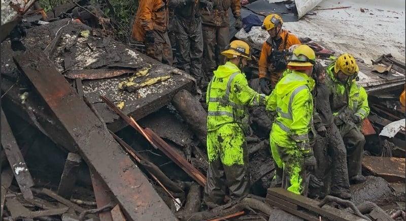California mudslides demolish homes, killing at least 13