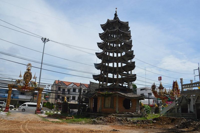 Work to correct the 'improper' temple structures is half complete. Photo: PR Dept