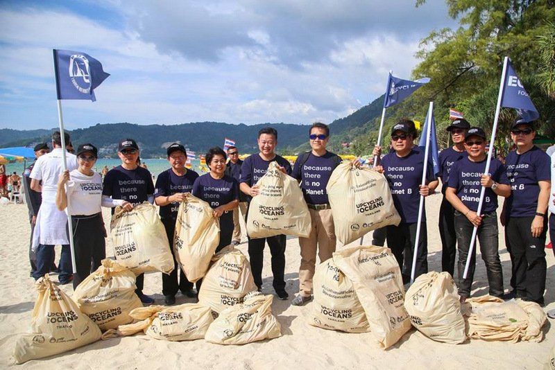 The mass cleanup netted more than 800kg of waste from Phuket beaches and coastal marine sites. Photo: Patong Municipality