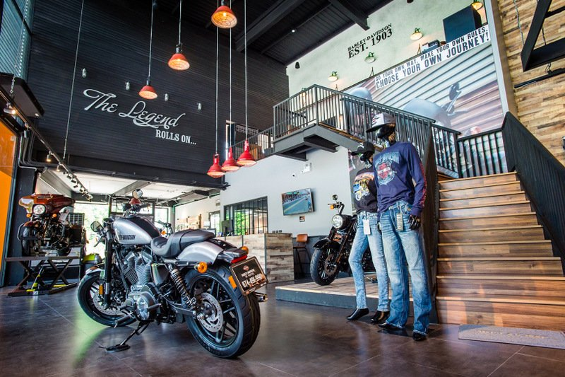 Harley-Davidson motorcycles are also on site at the MGC-Asia Autoplex. Photo: Supplied