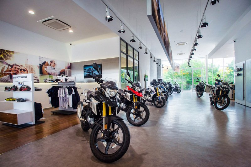 A BMW Motorrad motorcycle dealer and service centre is also on site at the MGC-Asia Autoplex. Photo: Supplied