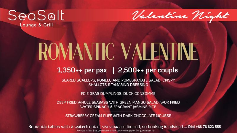 Romantic Valentine at Sea Salt Lounge & Grill