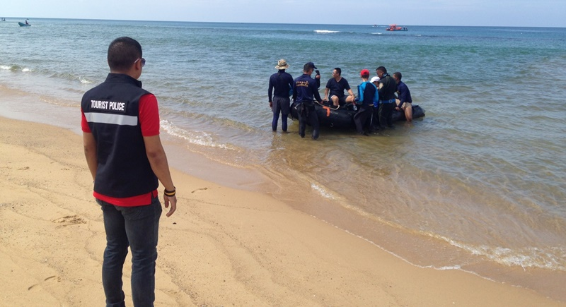 Rescuers continue search off Phuket for drowned Chinese tourist