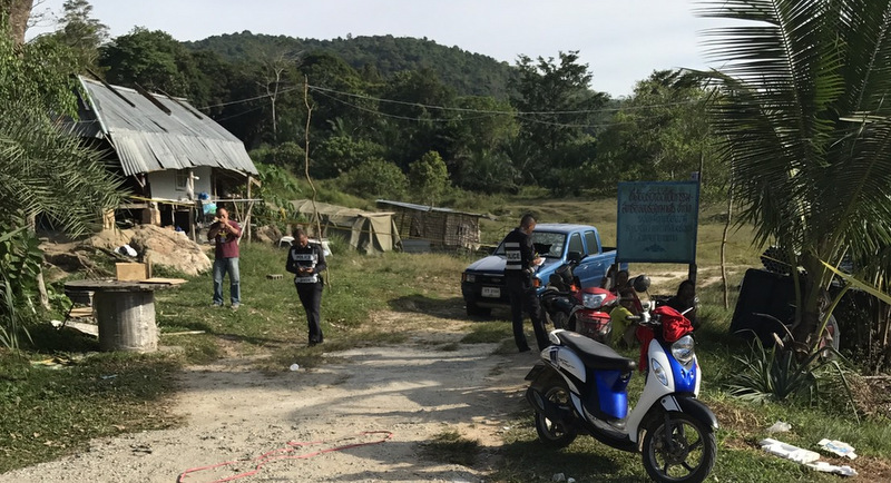 The gunfight began after two men crossing the land did not close a wooden gate behind them. Photo: Thalang Police