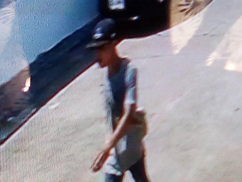 Neighbourhood CCTV caught the thief walking through the estate before climbing over the fence. Photo: Eakkapop Thongtub