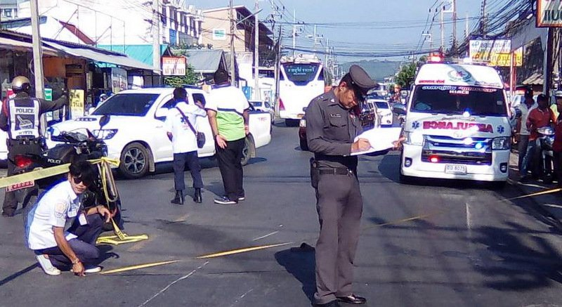 Police noted that the truck driver had fled the scene, but immediately presented himself at Phuket City Police Station. Photo: Eakkapop Thongtub