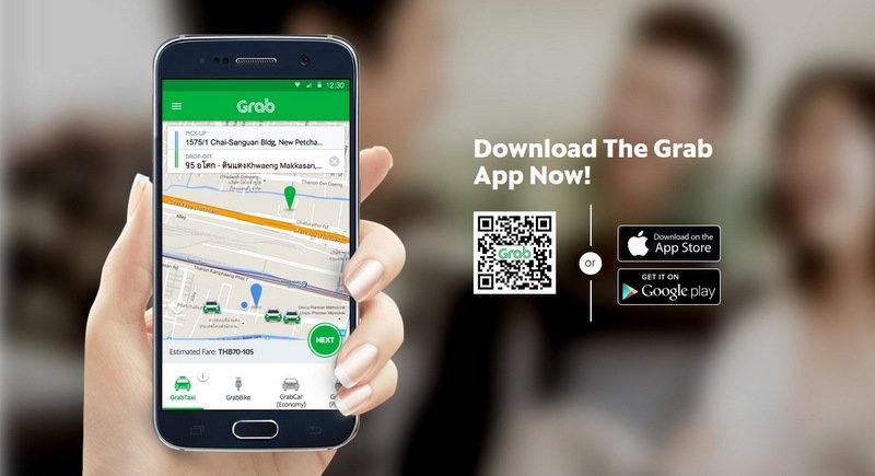 Uber suggested current clients and users to download the Grab app and create an account. Image Screengrab  Grab