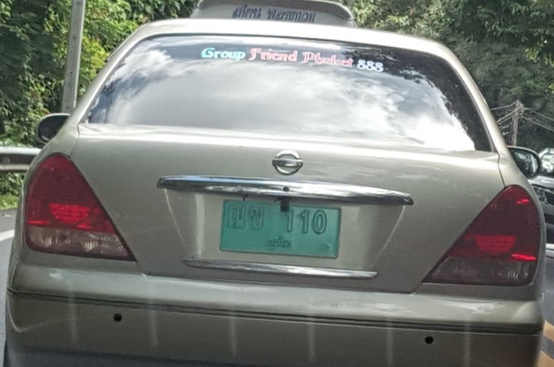 Faded, painted over or otherwise illegible licence plates are a growing trend in Phuket. Photo: Supplied