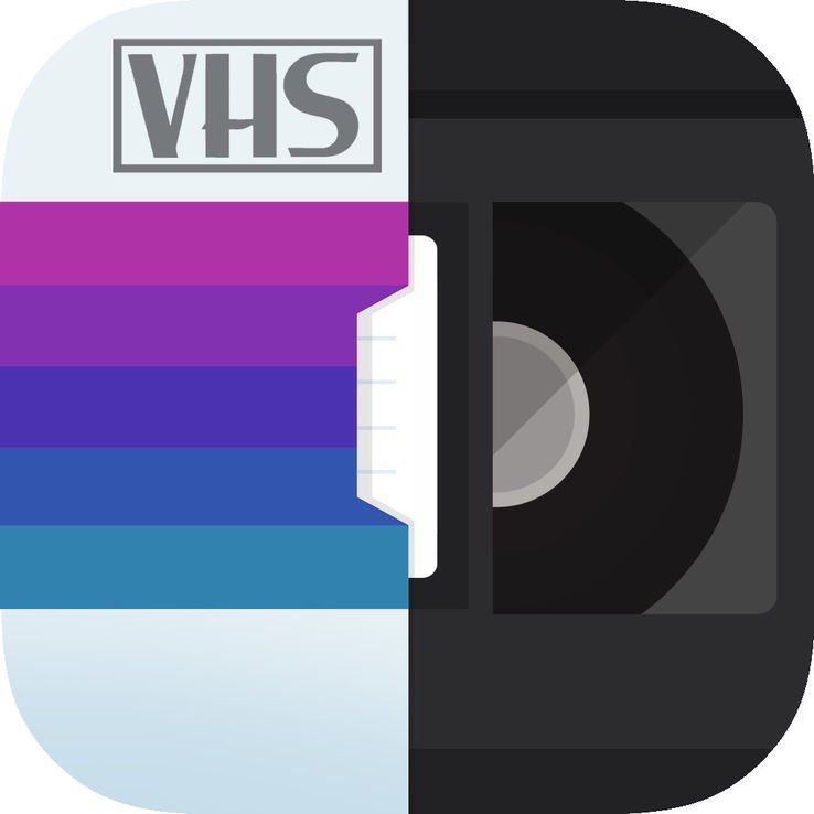 The app logo for RAD VHS-Retro Camcorder VHS