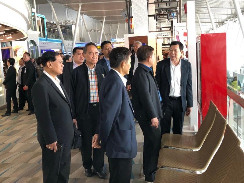 Members of National Legislative Assembly (NLA) standing committee for transportation, led by ACM Boonyarit Kerdsuk inspected Phuket International Airport last week. Photo: Eakkapop Thongtub