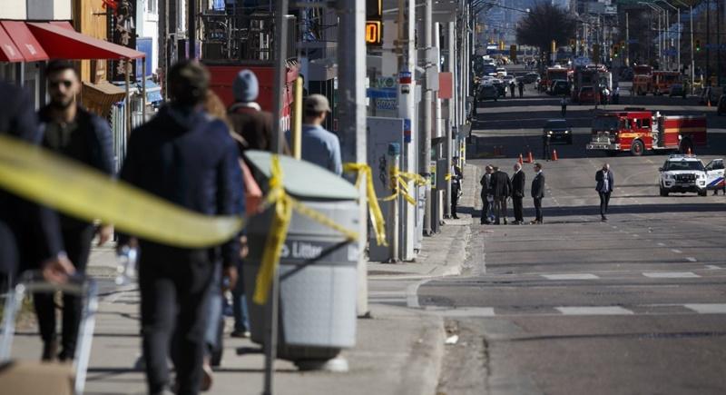 Van ploughs into Toronto crowd, killing nine