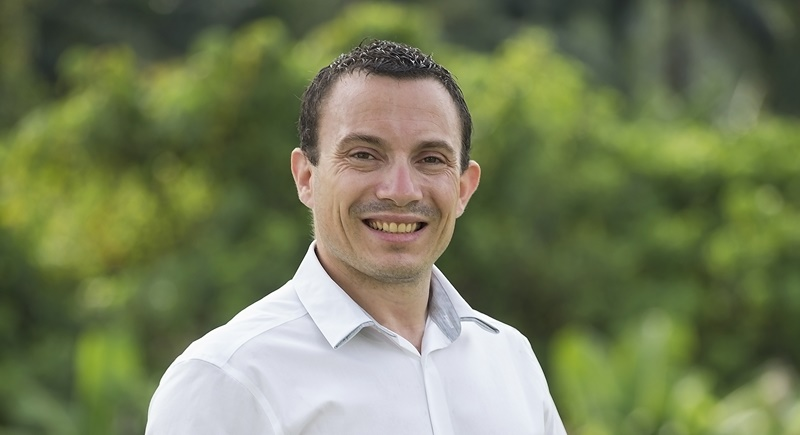 Thanyapura's new Director of Sports and Events Thibault Gonnet.