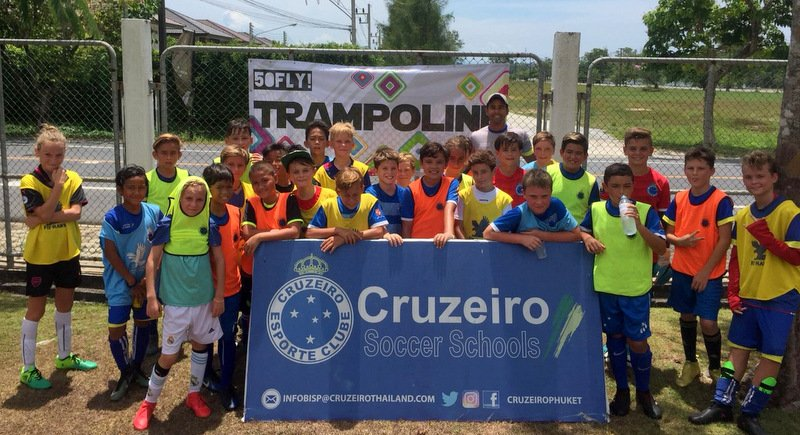 More than 110 kids turned out for the Cruzeiro Soccer Schools World Cup League.