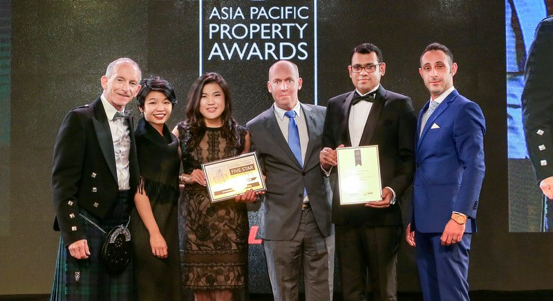 The Phuket Marriott Team received the award at the gala event held in Bangkok.