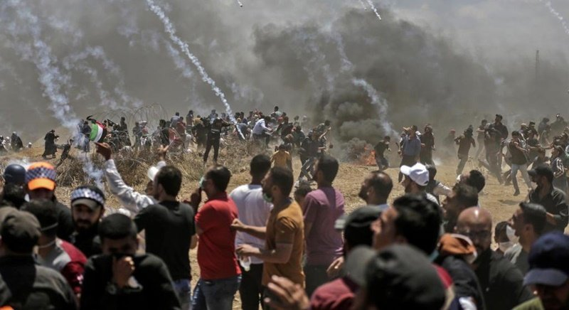 It was the deadliest day in the conflict since a 2014 war between Israel and the Palestinian enclave's Islamist rulers Hamas. Photo: Mahmud Hams / AFP