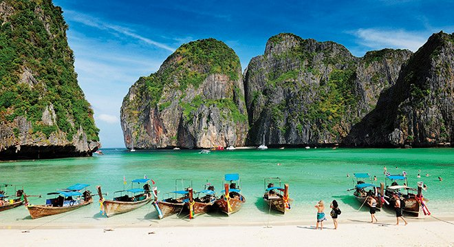 A tourism promotion photo of showing the pristine Maya Bay as recently as 2011. Photo: TAT
