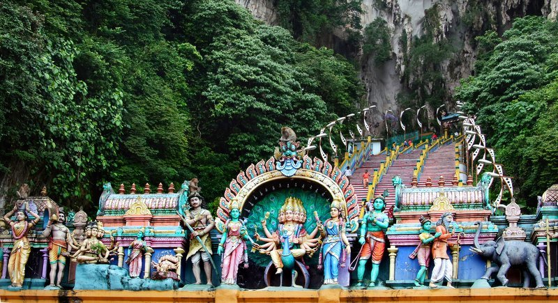 The influence of India's Hindu religion and culture can be seen throughout Thailand and Malaysia, a testament to the long history of trade between Indians, Thais and Malays. Photo: J Láscar