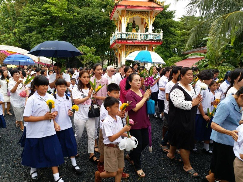 Ceremonies to commemorate Visakha Bucha Day began at Wat Wichit Sangkaram in Phuket Town at 8am. Photo: PR Dept