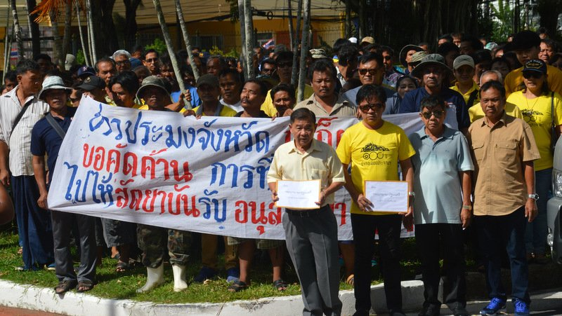 Phuket fishing fleet operators protest ILO Convention