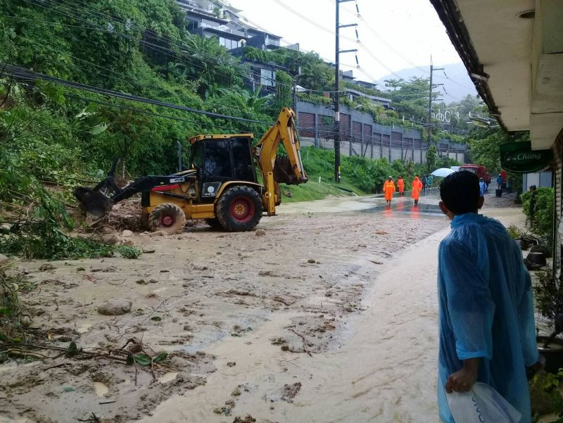 Many parts of Patong were alos affected by the floods. Photo: Patong Municipality