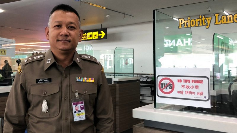Phuket Airport Immigration chief 'thankful' for No Tips order
