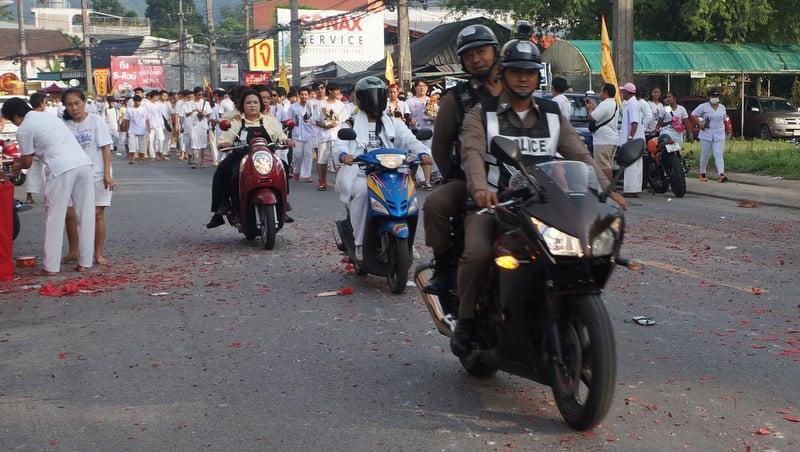 Phuket Traffic Police warn of tailbacks for Veg Fest major processions