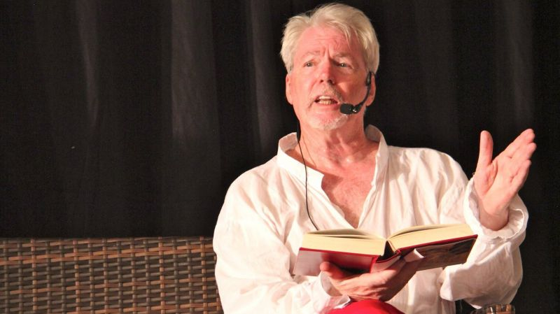 Joel Adams performing in The Complete Works of Shakespeare