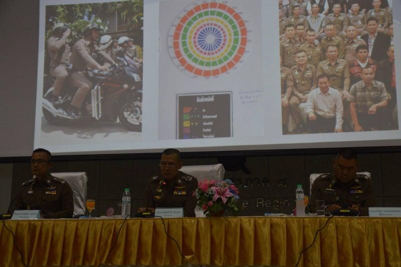 Royal Thai Police Deputy Commissioner Pol Gen Chalermkiat Srivorakhan arrived in Phuket yesterday to hand down his mandate. Photo: PR Dept