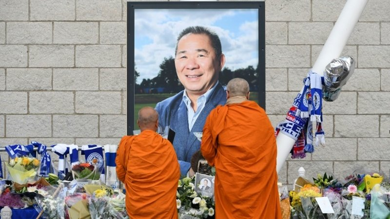 Vichai's body returns home for final farewell