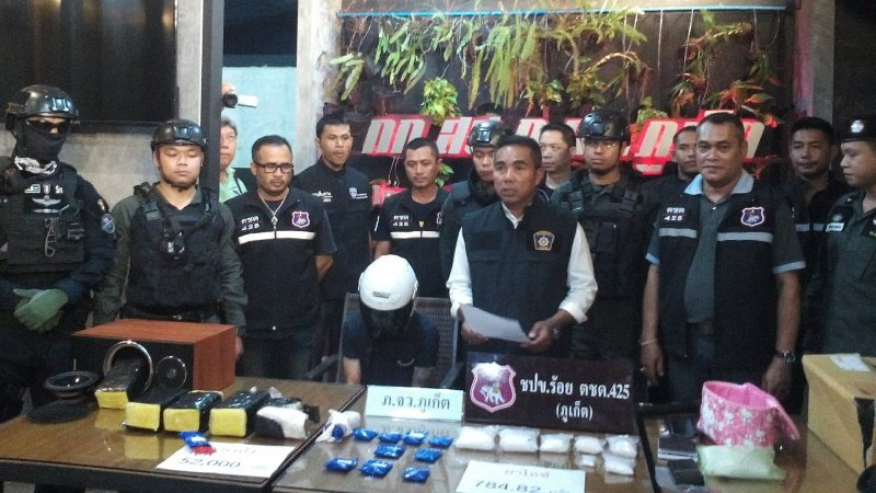 Phuket man nabbed with over 52,000 ya bah pills, ya ice