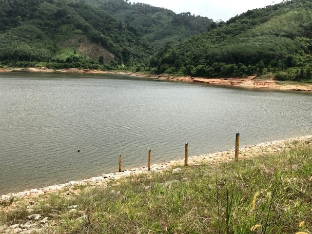 Water levels at Bang Neow Dum reservoir in Srisoonthorn are so low that officials are calling for residents to use water sparingly and hope that enough rain falls by the end of December to stave off drastic water-saving measures. Photo: Supplied