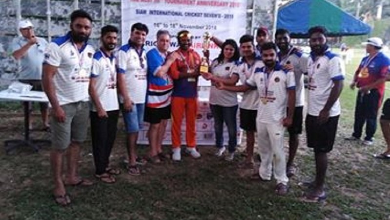 Raju's Cricket Club lift Cup at Siam International Cricket 7s