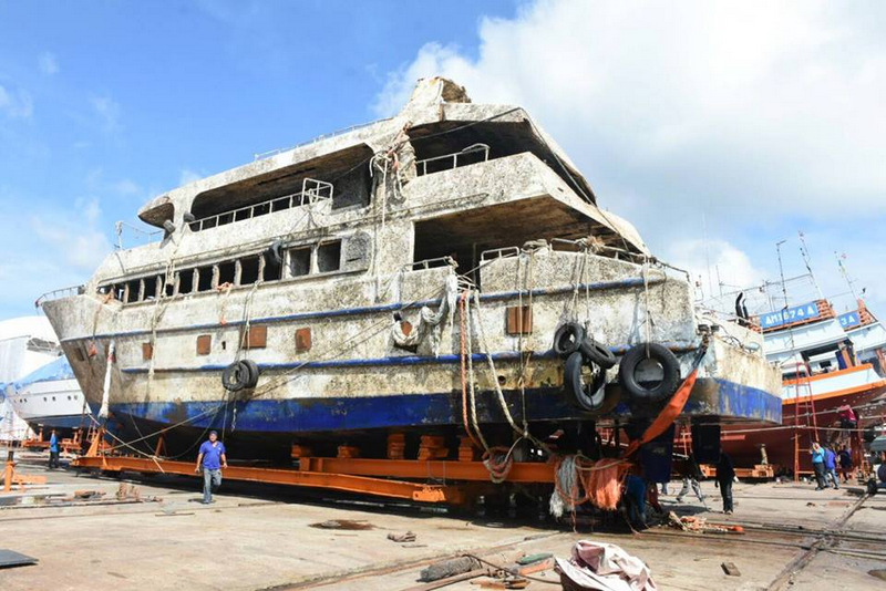 Responsibility for the 'Phoenix' wreck has now been handed over to the Royal Thai Police. Photo: Marine Dept
