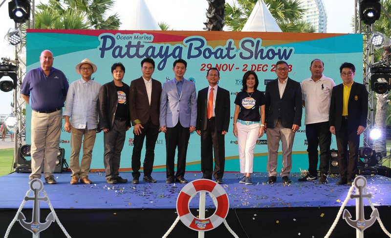 The 2018 Ocean Marina Pattaya Boat Show opened yesterday (Nov 29) to a busy day of visitors, including Thai dignitaries, VIPs, media and the public. The show continues through Sunday. Photo: Supplied