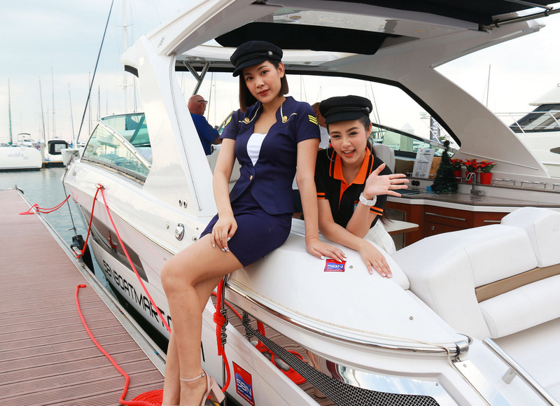 More than B100 million in sales were recorded at the Ocean Marina Pattaya Boat Show, which concluded yesterday (Dec 2). Photo: Supplied