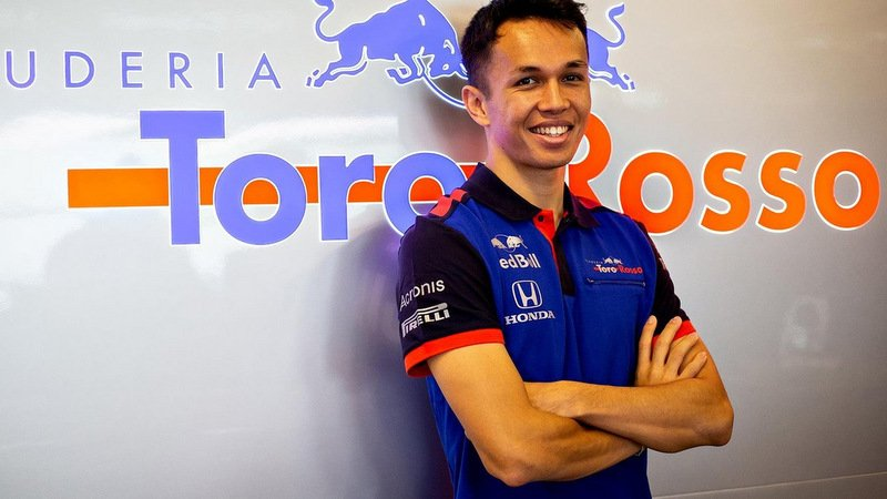 Thai national Alex Albon Ansusinha, 26, has been signed to race with the Scuderia Toro Rosso Formula One team next year. Photo: Scuderia Toro Ross