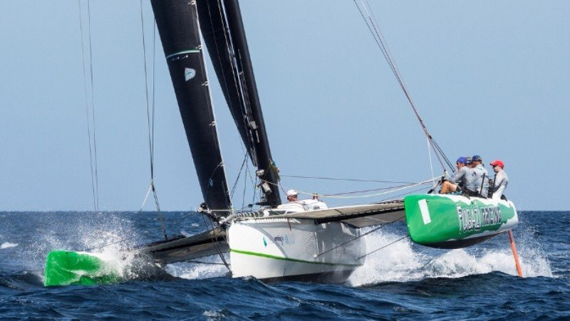 Fugazi, winner in Multihull Racing. Photo: Guy Nowell