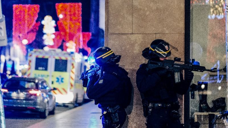 Gunman on run after killing three at Strasbourg Christmas market
