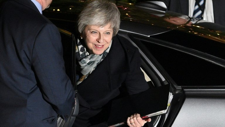 Theresa May survived a bid by her own MPs to unseat her. Photo: AFP