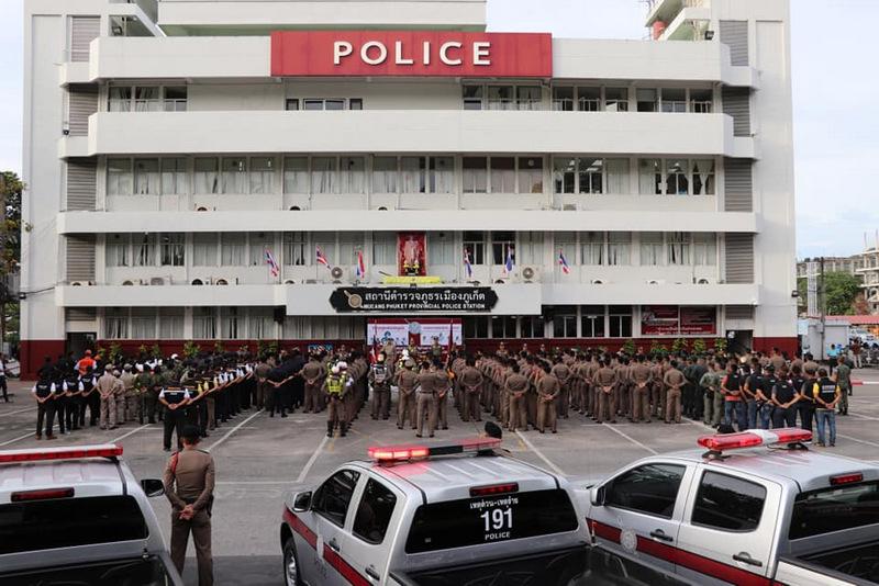Phuket Provincial Police Commander Maj Gen Wisan Panmanee ordered officers to 'strictly uphold the law, ensure peace and preserve the good tourism image of Phuket'. Photo: Phuket Provincial Police