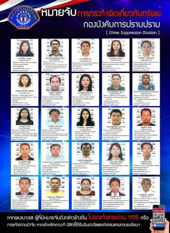 The Most-Wanted list of accused fraudsters marks the first time the Crime Suppression Division has used social media in such a crackdown.