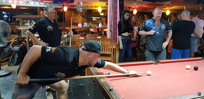 Pete Pida King, owner of Champs Bar and co-owner of Champs Tattoo on Soi Bangla, was born in Australia and loves a good night out and a game of pool with friends.