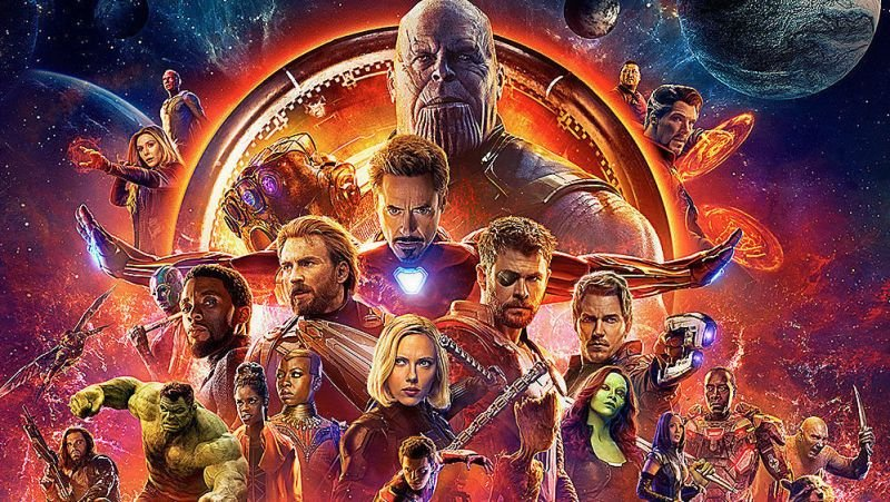 Avengers: Infinity War reigned at the Box Office. Image: Marvel Studios.