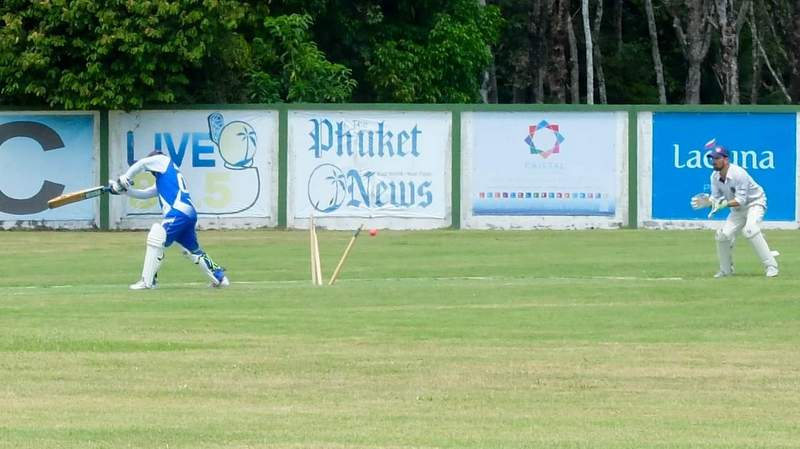 Misfits bowler Mudasir Rehman did his part in trying to stem the flowing run rate being scored by by the Panthers' batsmen. Photo: Courtesy of Michael Way