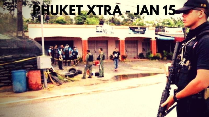 PHUKET XTRA: VIDEO: Power cables explode! Politico, wife killed at home! Cops to track themselves? || Jan. 15