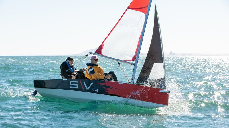 The S\V14 being put through its paces. Photo: Disabled Sailing Thailand